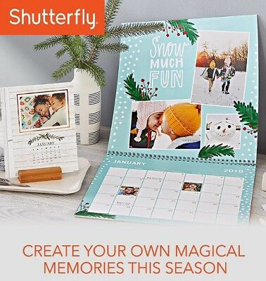 Shutterfly 8x11 Wall Or Easel Calendar Fast Delivery Promised
