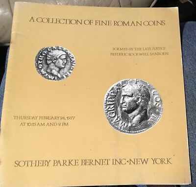 1977 Sotheby Fine Roman Coin auction catalog 68 pages