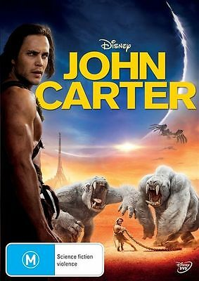 John Carter (DVD, 2012) // Ex-Rental // NO COVER // Disc & Case only