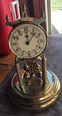 Vintage Kundo Kieninger Obergfell Brass Anniversary Clock 400 Day German Repair