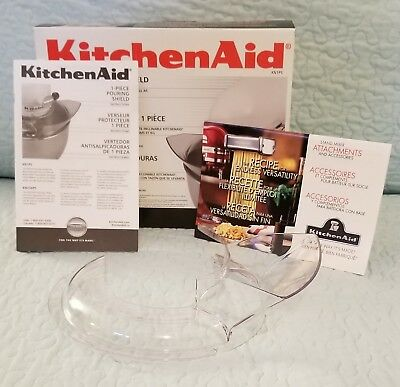 New in Box KitchenAid One Piece Pouring Shield for Tilt Head 5 qt Stand Mixer