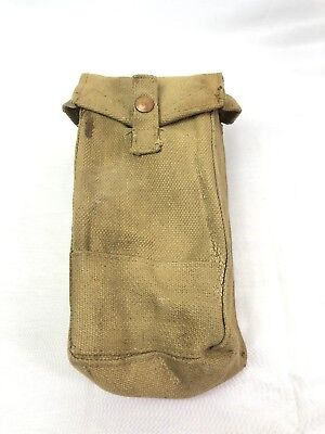 WW2 WWII British MKIII Pouch,Ammo,Army,Magazine,Original,Canvas,Bag,Case