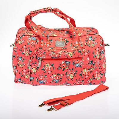 Lindy Lou Oilcloth Bag, Overnight, Weekend, Travel, Baby Bag, Carry on luggage.