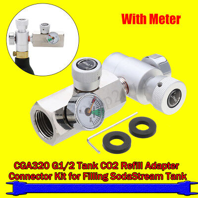 For SodaStream CO2 Tank/Cylinder G12 Refill  Adapter Connector Homebrew Kit