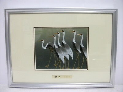 Pure gold, pure silver, a metal engraving product. Crane. Mitsuo K's work
