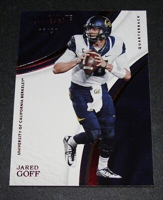 2017 Immaculate JARED GOFF #12 Collegiate Red Foil Variant/30 RAMS Cal Berkeley