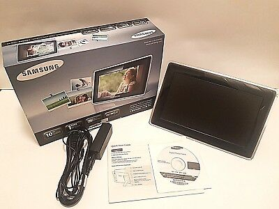 "Samsung 10"" Ultra Thin Mini Monitor 1GB Digital Picture Frame SPF-107H USED"