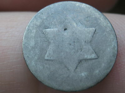 1851-1853 Three 3 Cent Silver- Heavily Worn, Lowball