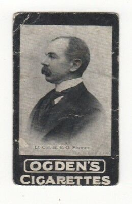 Ogden cigarette card: Liet-Colonel HCO PLummer - South Africa