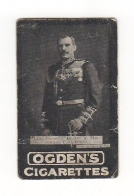 Ogden cigarette card: Major-General Hector MacDonald - Boer War