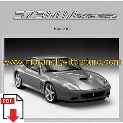 2003 Ferrari 575M Maranello service time schedule PDF (uk)