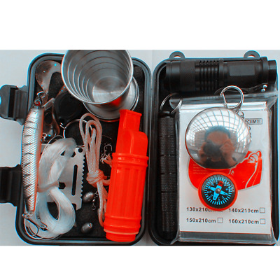 SOS Emergency Survival Equipment Kit Outdoor Gear Tool Tactical Camping Hiking