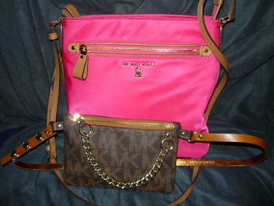 Michael Kors Cross Body And Fanny Pack ,,,,two Items!!!!!!