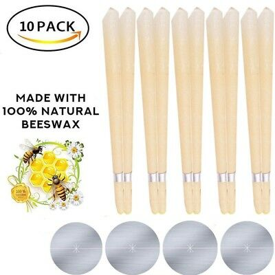 10Pcs Hollow Ear Candles Remove Wax Stress Natural Herbal Scented Treatment
