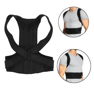 Body Wellness Posture Corrector Lumbar Belt Back Shoulder Brace Adjustable S-4XL