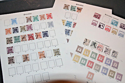 PALESTINE - 1918-32 MINT AND USED COLLECTiON ON LEAVES - INC POSTAGE DUES ETC