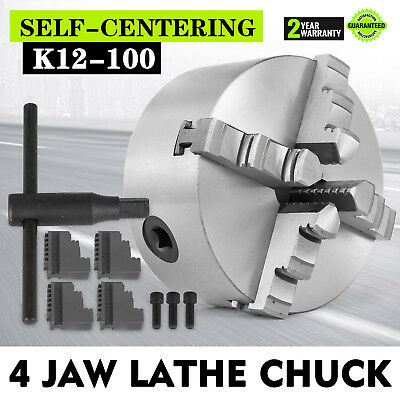 4'' Lathe Chuck 6 Inch 4 Jaw Self Centering & Reversible Jaw K12-100
