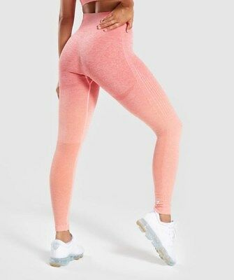a0278638ec Gymshark ombre seamless leggings in peach coral size S small crossfit gym