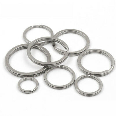 10pc/LOT 304 Stainless Steel Key Ring Double Loop Keychain Rings NEW