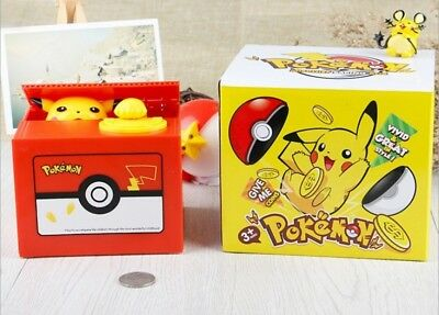 Pokemon Pikachu Moving Electronic Money Tirelire Tirelire Boîte D'épargne Cadeau
