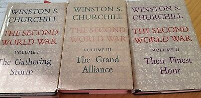 Winston CHURCHILL 3 VOLUMES, GATHERING STORM, GRAND ALLIANCE, FINEST HOUR