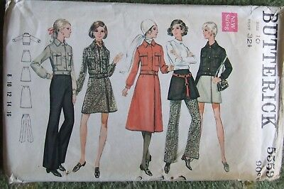 "Vintage 1970s BUTTERICK Sewing Patt. No. 5559 ""Jacket Pants Skirt"" Size 10"