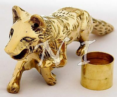 Fox Head Style Solid Brass Handle For Wooden Walking Stick Vintage Canes Gift