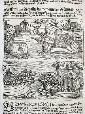 Livius History of Rome Post Incunable Woodcut Schoeffer (342) 1530