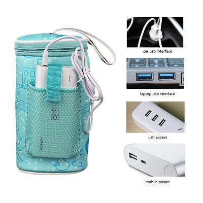 Portable USB Bottle Warmer Heater Travel Baby Milk Water Thermostat Cover Pouch