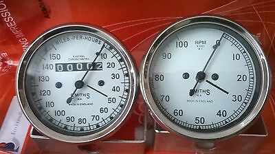 Smiths 150 mph Speedometer  Tachometer 80 mm fitment M18x1.5 thread Replica WH