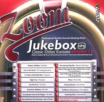 Zoom Karaoke Juke Box Classic Oldies Volume 12 CD + G New Sealed