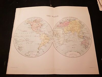 Map of The World - 1924 Book Print