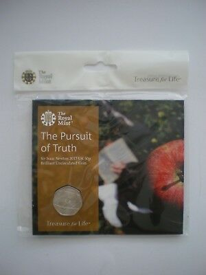 2017 Royal Mint  Sir Isaac Newton 50p Fifty Pence Sealed Coin Pack