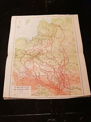 Map of The Eastern Front - WW1- 1924 Book Print