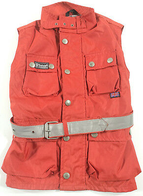 Belstaff Giacca Bimbo Rosso Chaqueta Jacket Kilds Red Vintage