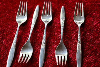 1970s Wiltshire EPNS Cake Forks x 5