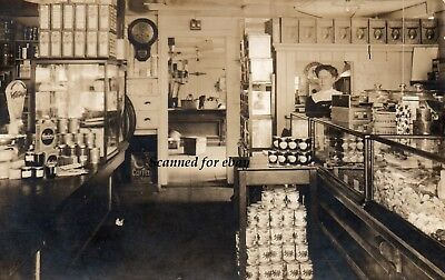 RPPC General Store, fantasic picture with products and view into back room