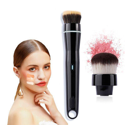 2 Speed Electric Makeup Brush USB Rechargeable Powder 360° Rotating  Cosmetic UK