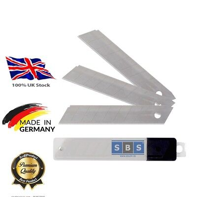 50 SNAP OFF BLADES 18mm x 0.5mm  RETRACTABLE TRIMMING  CUTTER CRAFT HANDLE