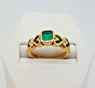 Emerald Ring – 18k Yellow Gold (9294T)