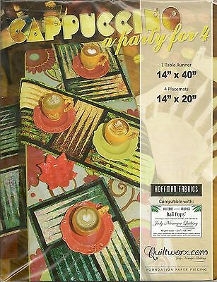 Cappuccino Tablerunner and Placemats  Paper Piecing Pattern by Judy Niemeyer