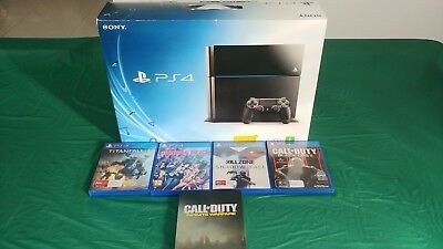 Sony PlayStation 4 - Original 1TB Black - w/ Games, No Controllers
