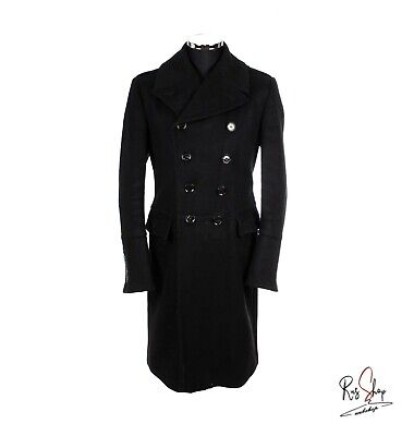 Burberry Cappotto Nero Lana Coat Wool Black Vintage Made In Italy