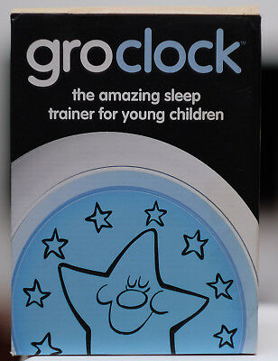 Light Up Glow Grow Clock Sleep Trainer Childs Toddlers Baby Night Alarm Kid
