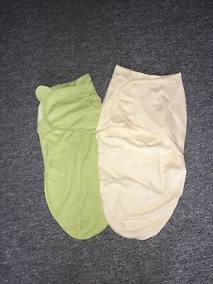 SUMMER INFANT SWADDLEME SWADDLE WRAPS WITH VELCRO X 2 LARGE 14-20lbs