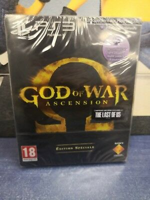 jeu ps3 neuf god of war ascension edition speciale metal steel box