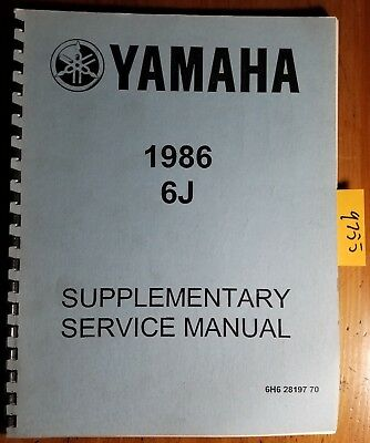 Yamaha 1986 6J Outboard Supplementary Service Manual 6H6-28197-70 8/85