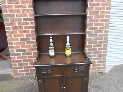 Vintage Dark Wood Welsh Dresser Small 30inch wide perfect to shabby shic