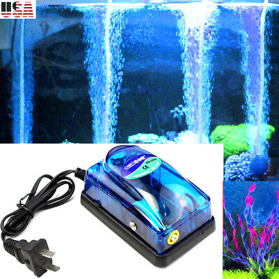 Ultra-Silent 3W Aquarium Air Pump Fish Tank Increasing Oxygen Pump Aquarium USA