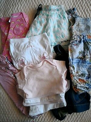 Bulk lot 11 pieces size 3-6 Months baby girl clothes, mothercare, target, bebe
